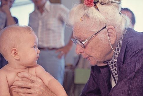 Baby and Ida P Rolf